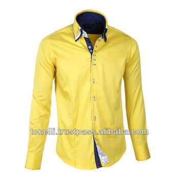 Yellow Mens Dress Shirt