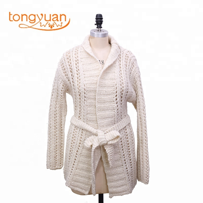 c75fb406384d12 Women's Sweater Autumn and Winter Long sleeve Knit Woolen Coat Ladies Cardigan  Sweater Wool Handmade Sweater Design for Girl