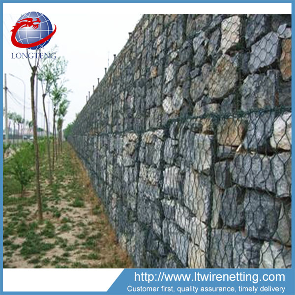 Anping factory pvc coated 1x1x1 4.0mm gabion basket/rock cage/wire mesh/retaining wall