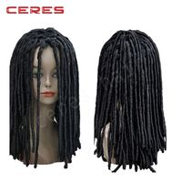 African Fashion Long Wavy Curly Dreadlocks Wig lace front wig