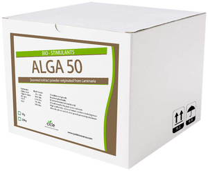 Water solubility 100% natural seaweed extract fertilizer Alga 50 rich in  Alginic Acid