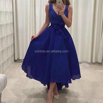 Vestidos de noche en azul