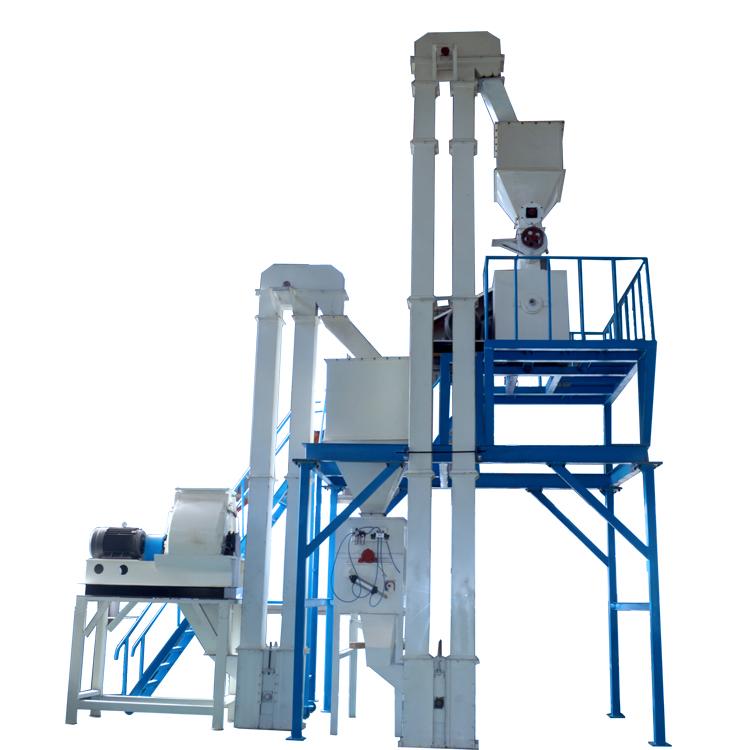 3-5ton/h di pollame feed linea di produzione in turchia
