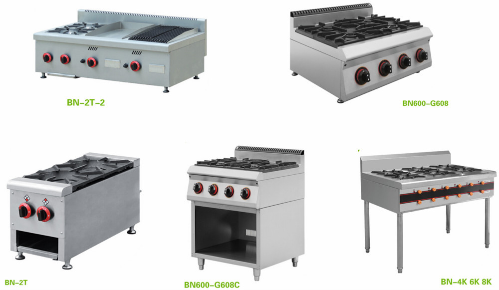 Chinese Restaurant Kitchen Equipment bn-2t-2 chinese restaurant equipment 2 burner table top gas stove