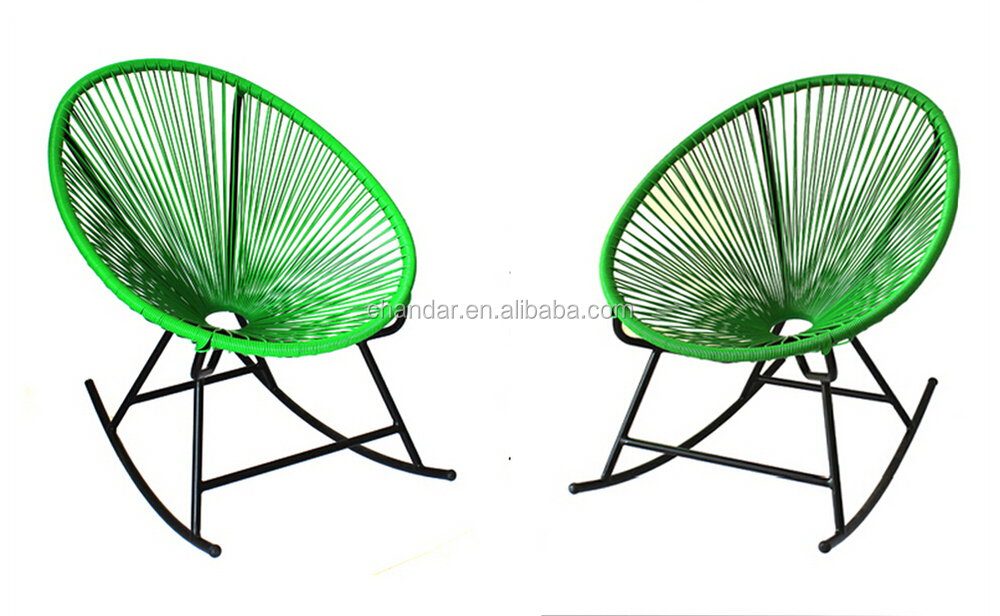 Ch A081 Steel Frame Swing Wicker Garden Furniture Chair Plastic Egg Shaped