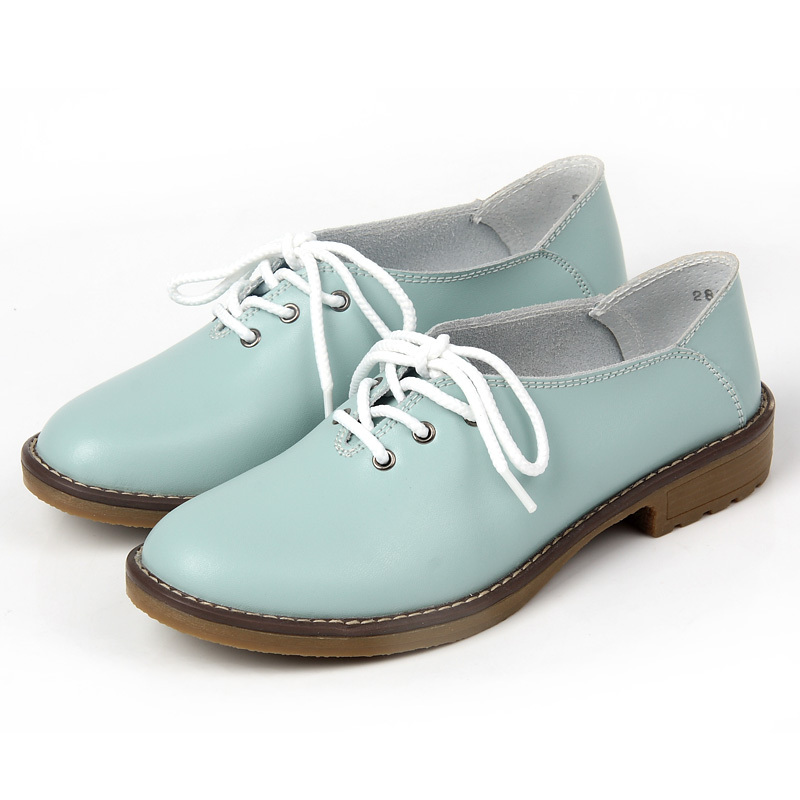 2015 New Fashion Oxford Shoes For Women Spring/Autumn casual oxford comfortable lace up round toe Women flat Sneakers Shoes
