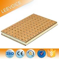 Wooden Perforated Acoustic Panel High Absorption Coefficients