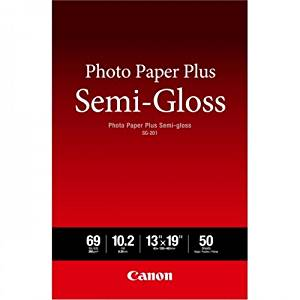 Canon Photo Paper Plus Semi-gloss SG-201 - Semi-gloss photo paper - 10.2 mil - 13 in x 19 in - 50 sheet(s) - for PIXMA iP3680, iP4820, iP4850, MG8250, MP198, MP228