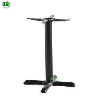Iron inox table base for trumpet bistro coffee shop 4 legs black