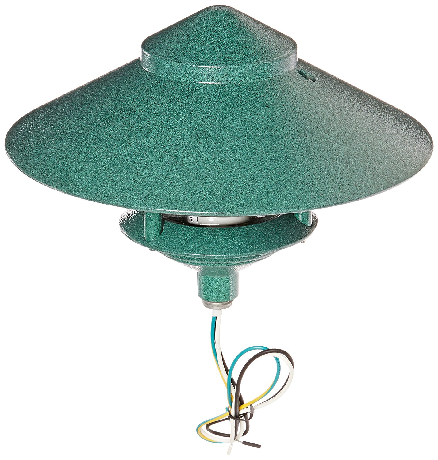 "RAB Lighting LL323VG Incandescent 3 Tier Lawn Light with 10"" Top, A-19 Type, 75W Power, 1220 Lumens, 120VAC, Verde Green"