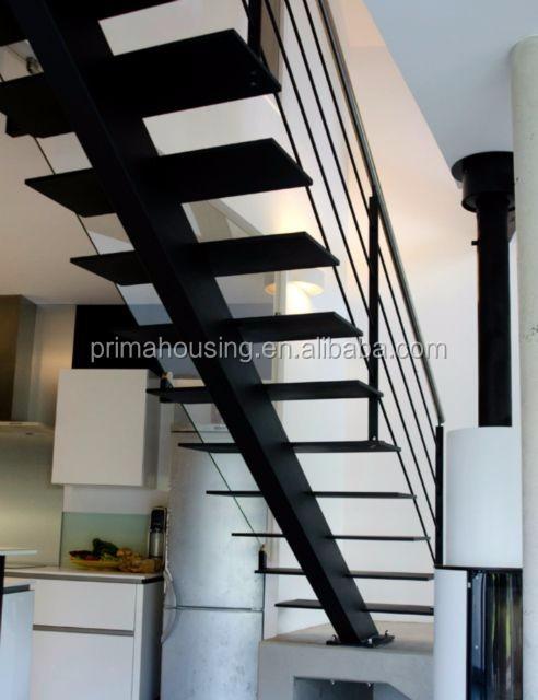 Modern Straight Steel Stairs Metal Staircase Buy Metal