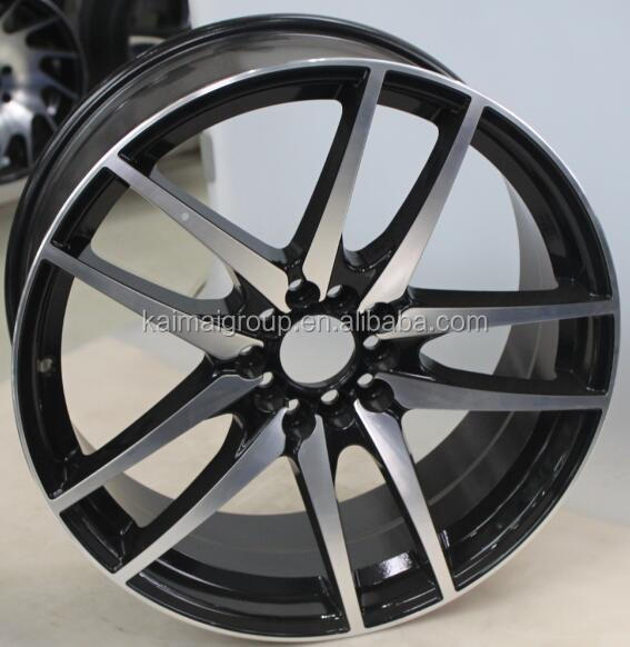 Racing car style alloy wheels / black machined face rims