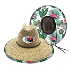 Australia chapeus palha custom logo patch dye brown lifeguard surf safari straw hat
