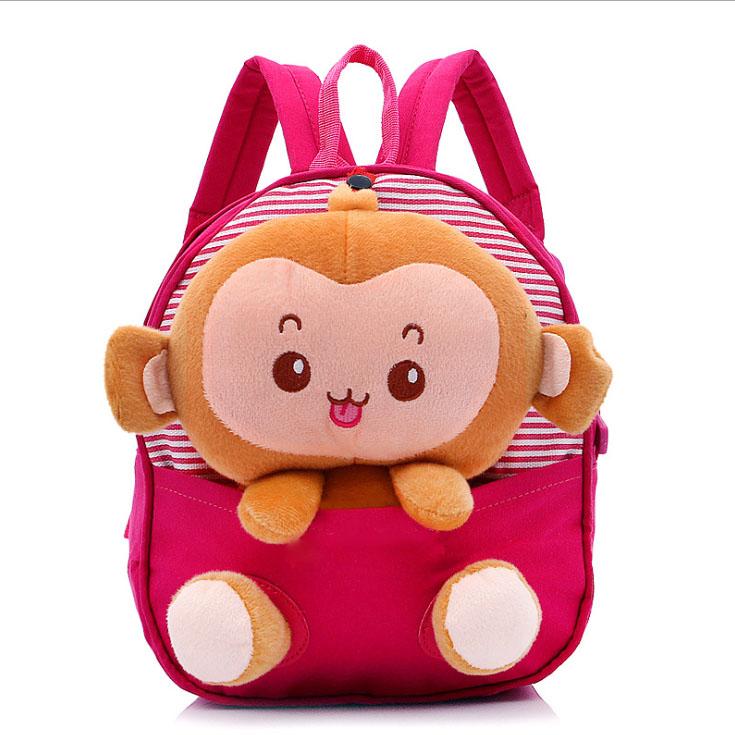 76c5cab55f8d Get Quotations · Cute and dismountable cartoon monkey kids school bag   children  school bag