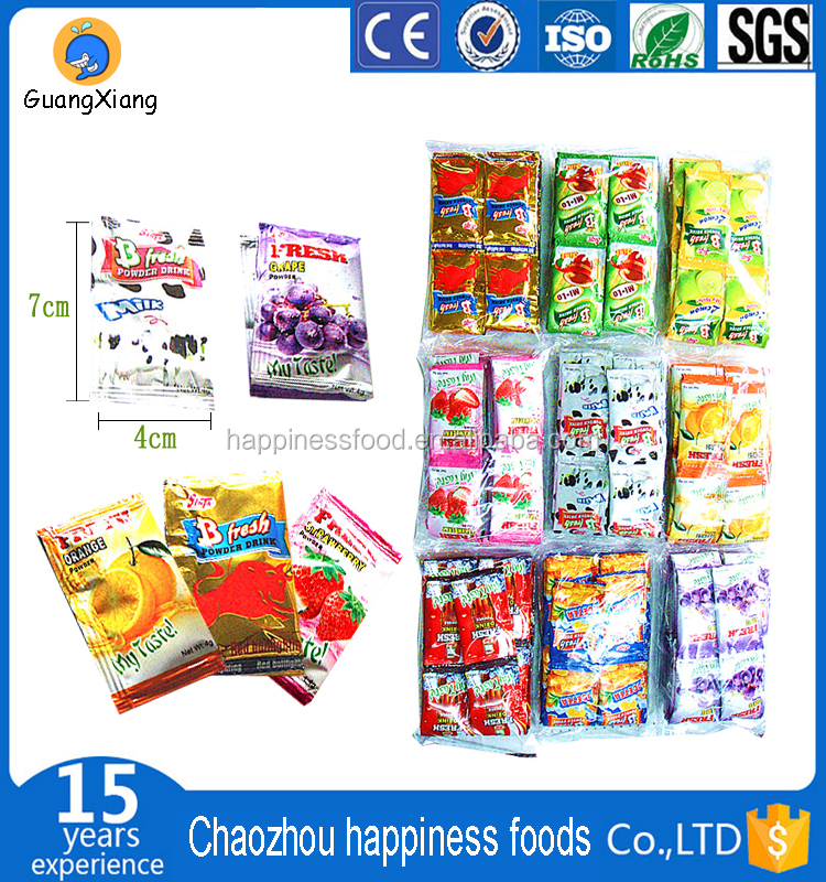 Fruit Juice Powder, Instant Fruit Drink Powder, Fruit Drink small bag and in bulk