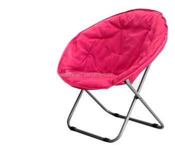 Kids Outdoor Folding Moon Chair Animal Print Camp Chair Beach Chair