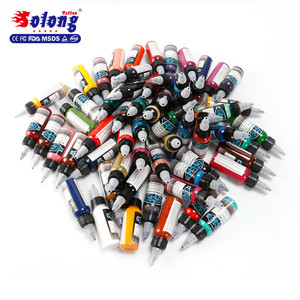 Solong wholesale tattoo ink professional permanent and long time lasting best tattoo ink colors