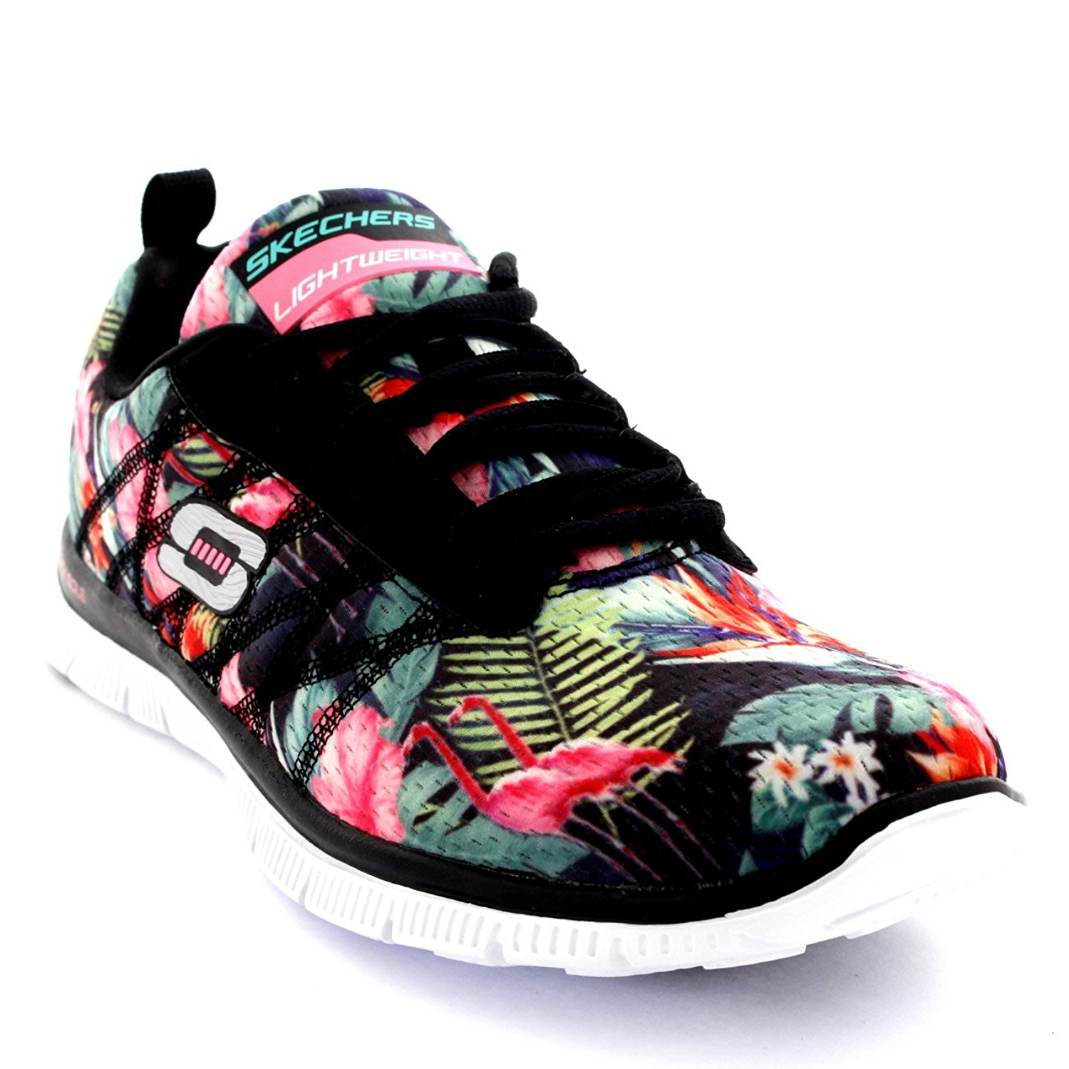 488d8cfb0ecf Womens Skechers Flex Appeal Floral Bloom Sports Jogging Active Sneakers