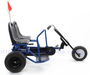 2 seat pedal go kart, adult go kart pedal