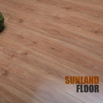 2017 Germany High Gloss Grey Oak Timber Laminate Flooring Made In