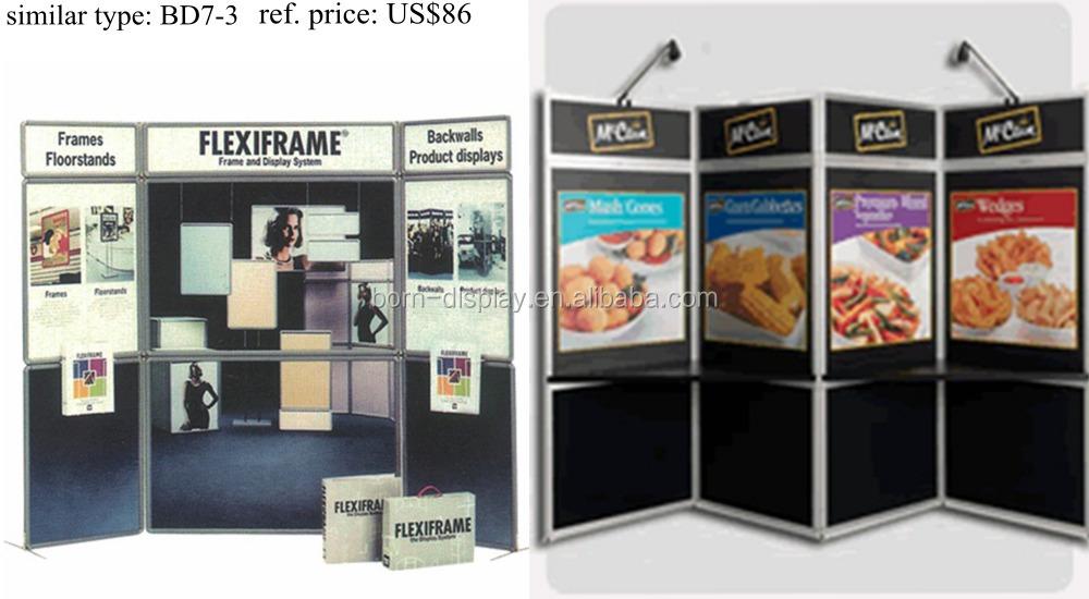 Portable Exhibition Panels : Portable exhibition folding screen advertisement panel