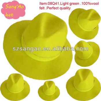 fccf91ef42f Wholesale High Quality Light Green Men Fedora Hats In Winter - Buy ...
