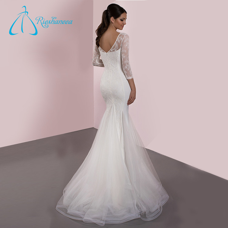 Court Train Scoop Sheer Neck Real Sample Wedding Dress