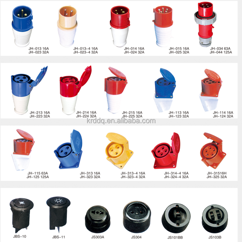 female ac / dc Industry Socket/Plug 213 . 223