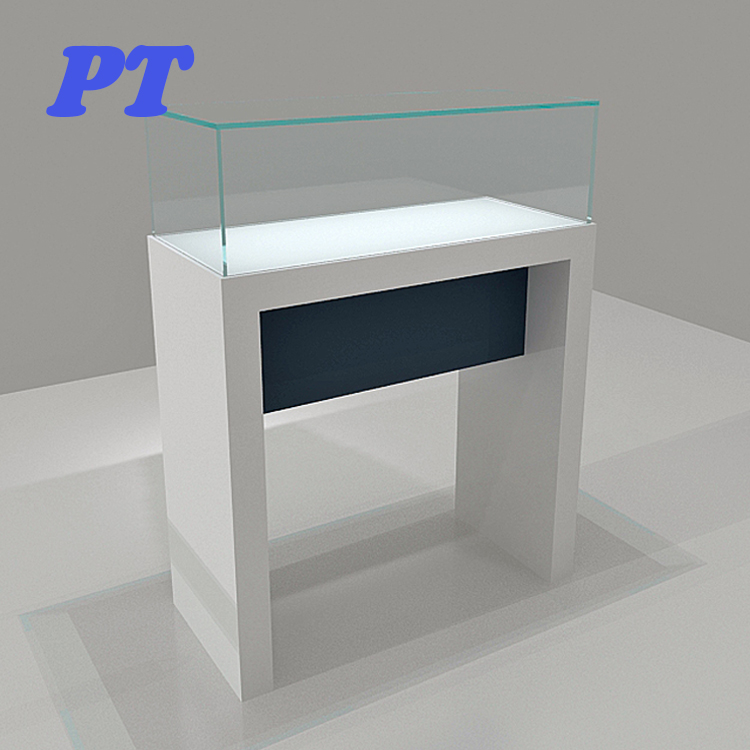 In China Gold <strong>Retail</strong> Led Counter Top Free Stand Corner Glass Jewelry Acrylic Jewellery Cabinet Display