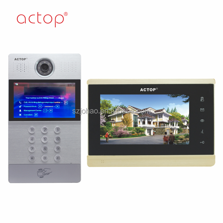TCP/IP actop home intercom full digital ip based video intercom