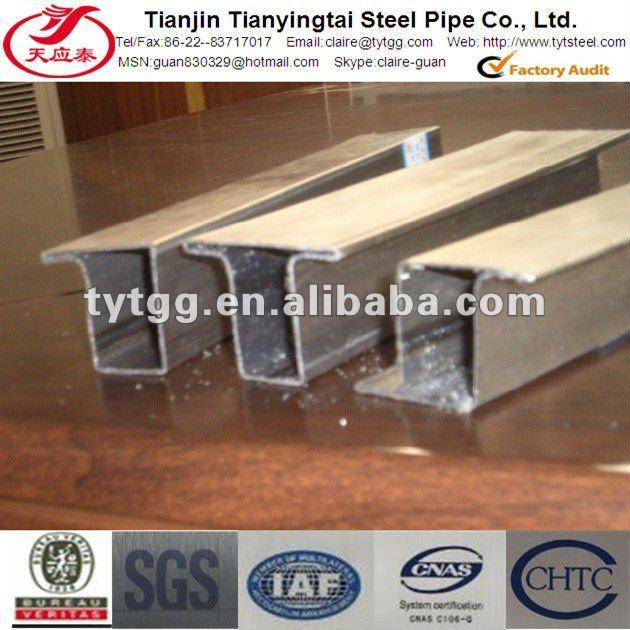 Ventana de acero en forma ltz perfil marcos para puertas for Perfiles de hierro galvanizado precio