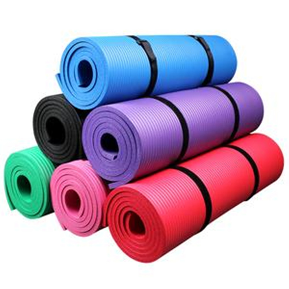 Gymnastic Natural Rubber Exercise Cheap Yoga Mat With Strap