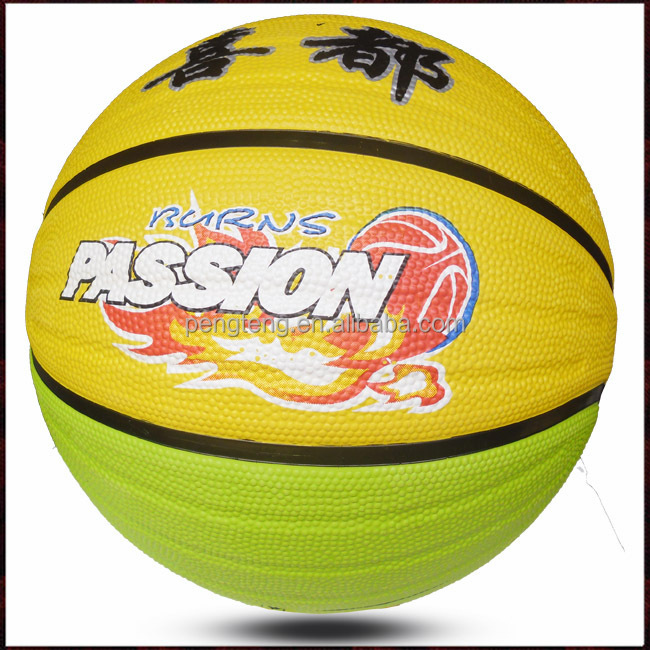 8 Panels Deep Channel Colorful Rubber Basketball