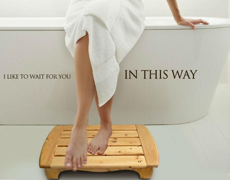 Bad mat krukje te koop, houten zitting kruk voor badkamer-stoelen en ...