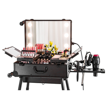 Latest Style of Makeup Station with legs with three color adjustable lights