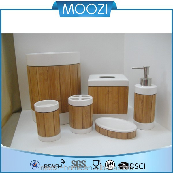 Bad Set Braun. baesto wood bad accessoires braun in holzoptik ...
