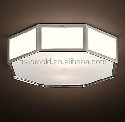 Olsen Glass Modern Chandelier Hotel Flushmount Lighting Ceiling ...