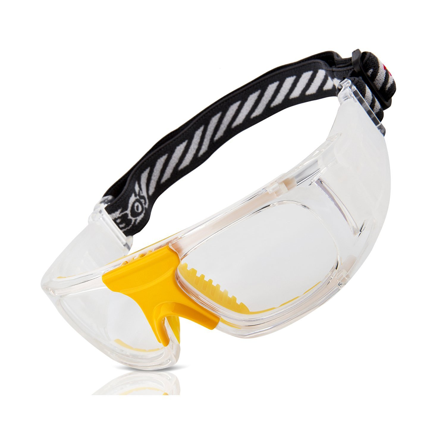 4d9948752a Get Quotations · RIVBOS® Sports Goggles Safety Protective Glasses with Strap  and Portable Case for Basketball Football Hockey