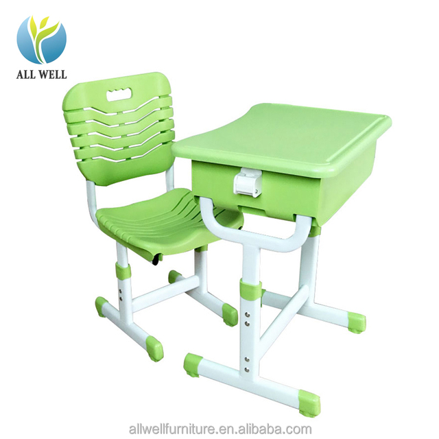 Anti Bump Design School Furniture Children Desk And Chair