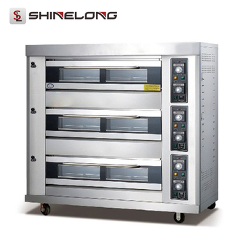 Guangzhou Stainless Steel K267 3-Layer 9-Tray Professional Freestanding Gas Cooker With Oven
