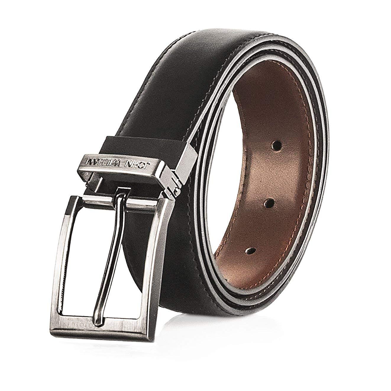 Pajamasea Men Belt Cowhide Genuine Leather Belts Automatic Buckle Belts Brown Black Belts