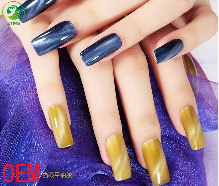 Uv Cat Eye 3d Gel Polish Magnetic Nail Polish Black /white Bottle ...