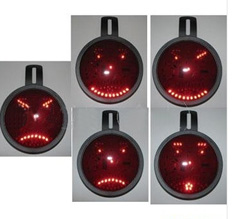 Animated Face LED Car Messaging Sign Board with Dual Power Supply