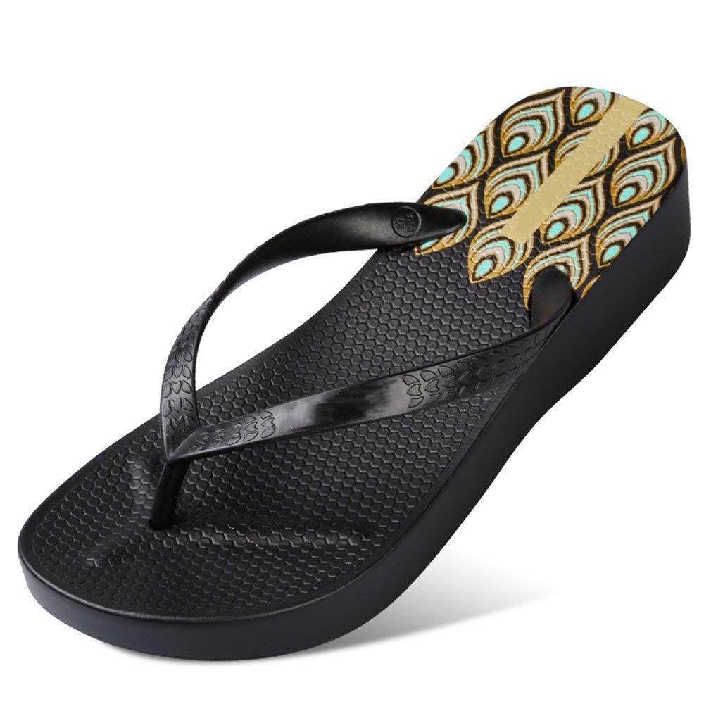 392ae30aa Get Quotations · flip flops Women High Heel Platform Wedges Slippers Ladies  Summer Slippers Woman House Shoes Beach Thong