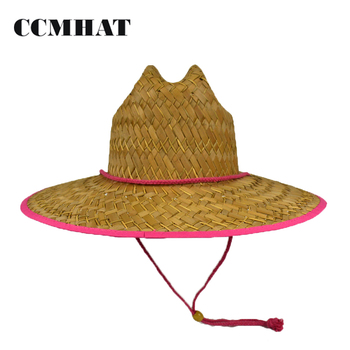 Wide Brim Hat Lifeguard Straw Hat Floppy Hat For Outdoor Sports ... 2877c5ae646