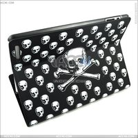 Skull Pattern Leather Case for ipad 2 P-IPAD2CASE071
