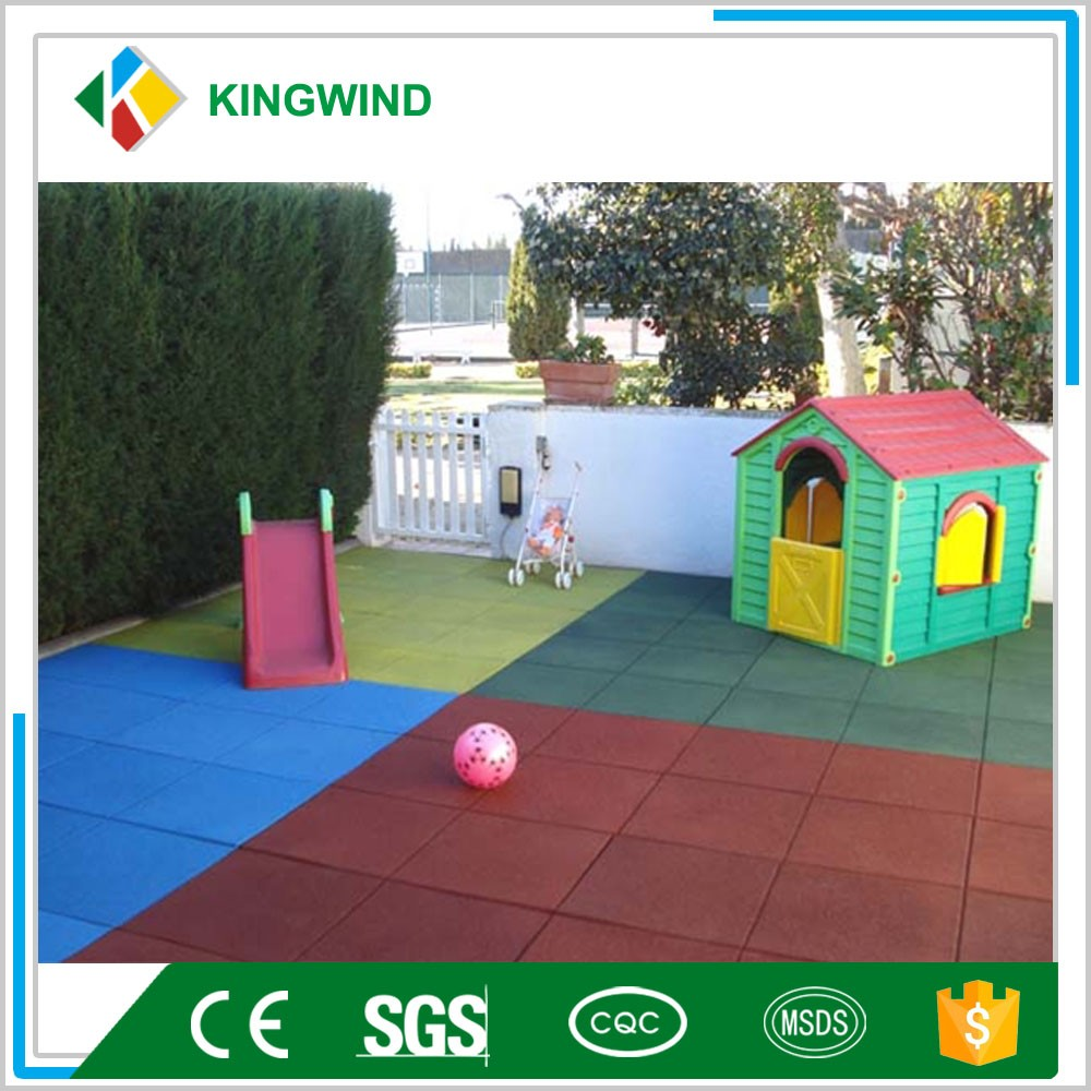 Playground kids rubber tiles ,outdoor gym mat,pathway rubber mat
