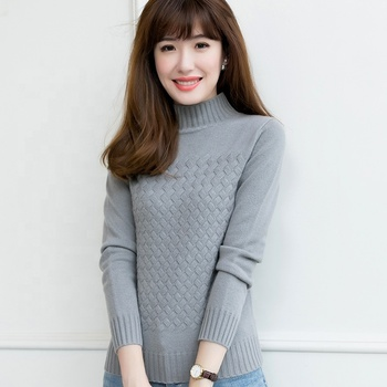 Wholesale hot new ladies turtleneck super soft sweater