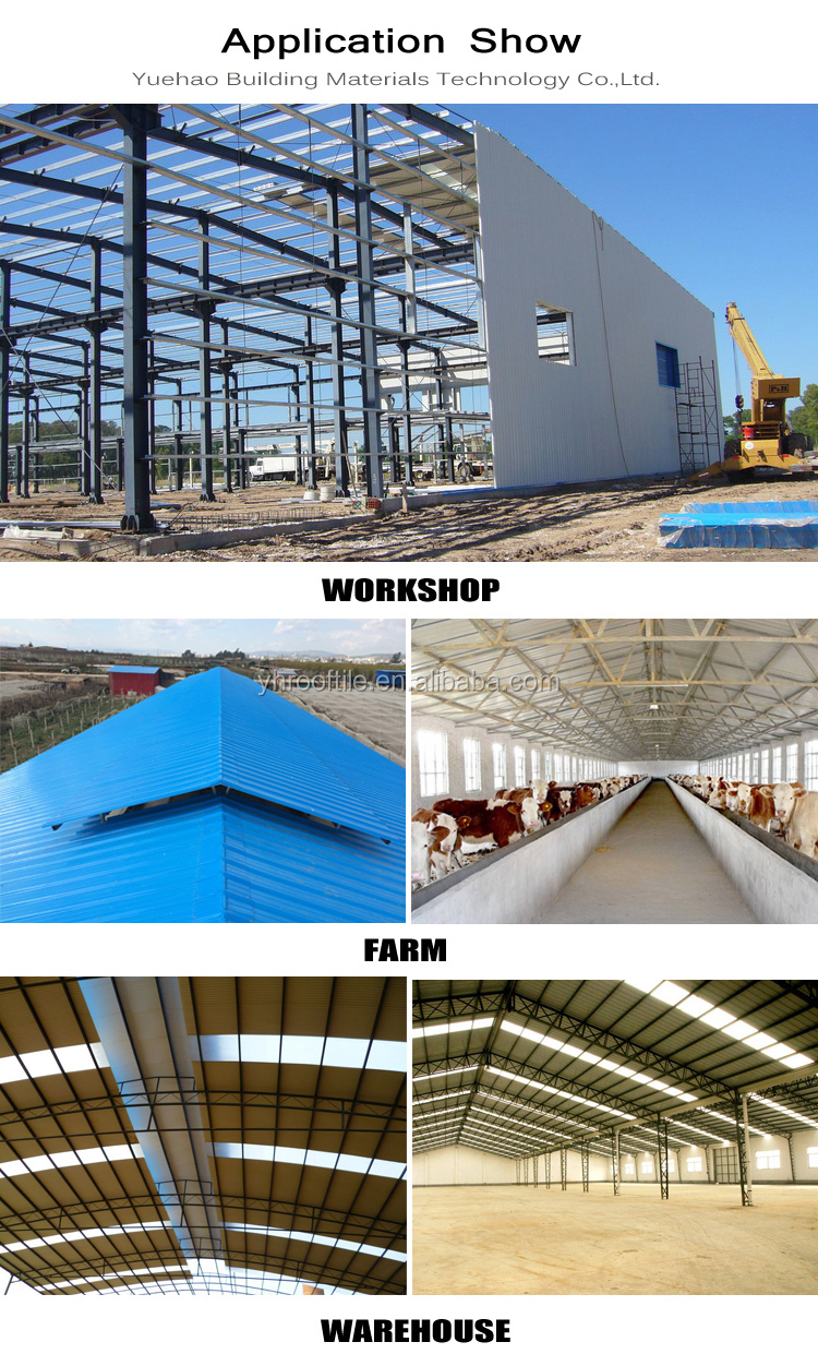 Yuehao plastic roof tiles wholesaler widely used PVC recycled plastic roof tiles bulk production for farm land-5
