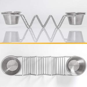 Hold Up To 3 Tacos Per Piece Taco Holder Stand With 2 Guacamole, Taco Rack Tray Oven, Dishwasher and Grill Safe